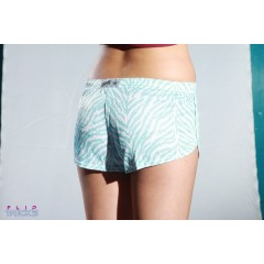 Soffe Mesh Teeny Tiny Shorts Blue Zebra