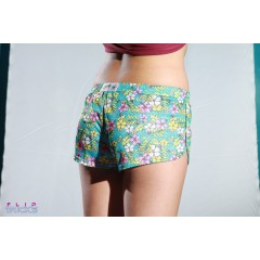 Soffe Mesh Teeny Tiny Shorts Flower