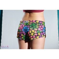 Soffe Mesh Teeny Tiny Shorts Dino Rainbow