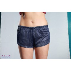 Soffe Mesh Teeny Tiny Shorts 2 Colour White/Navy