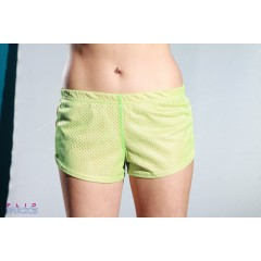 Soffe Mesh Teeny Tiny Shorts 2 Colour Pink/Green