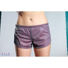 Soffe Mesh Teeny Tiny Shorts 2 Colour Pink/Grey