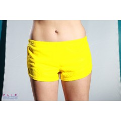 Soffe Mesh Teeny Tiny Shorts Yellow