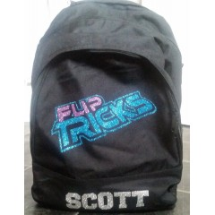Fliptricks backpack with glitter print