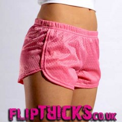 Soffe Mesh Teeny Tiny Shorts Fuscia