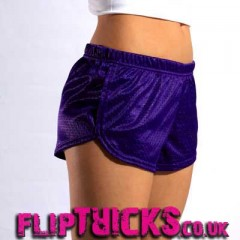 Soffe Mesh Teeny Tiny Shorts Purple