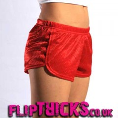 Soffe Mesh Teeny Tiny Shorts Red